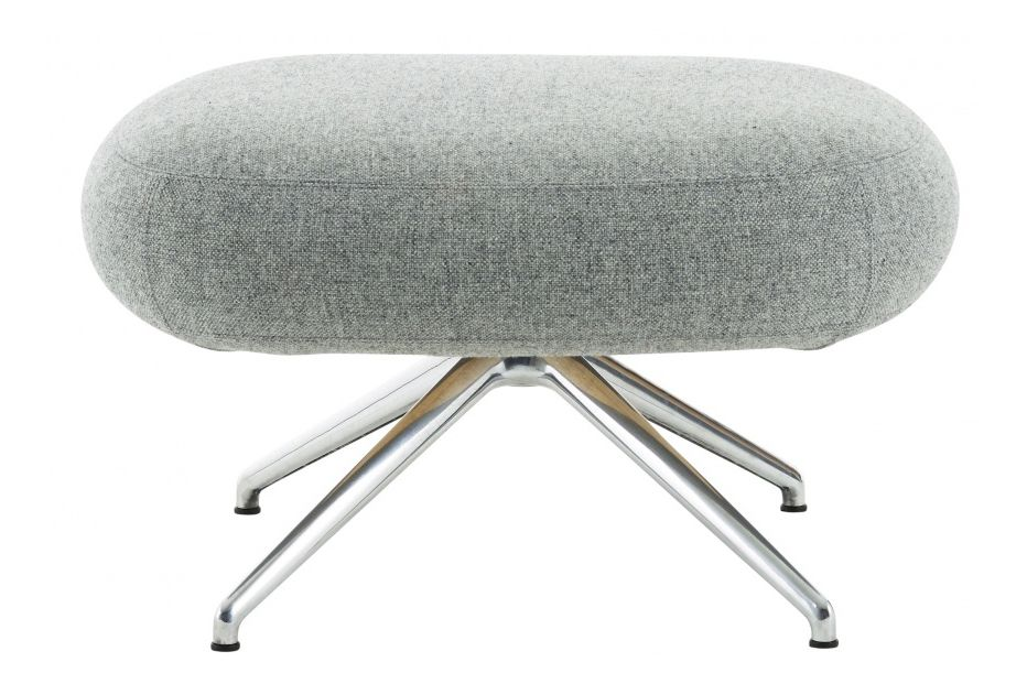 Polished Aluminium, Hallingdal 65 110,Swedese,Footstools,chair,furniture,stool,table