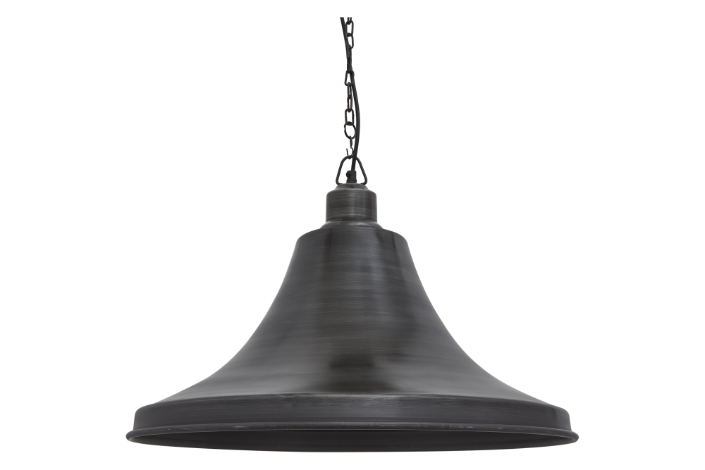 Brooklyn Giant Bell Pendant - 20 Inch - Brass - Pewter Holder,INDUSTVILLE,Pendant Lights,ghanta,lighting