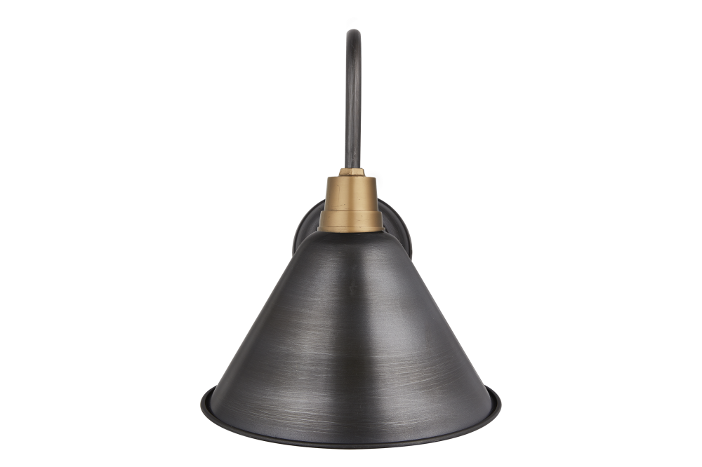 Swan Neck Cone Wall Light - 8 Inch - Brass,INDUSTVILLE,Wall Lights,cone,light fixture,lighting