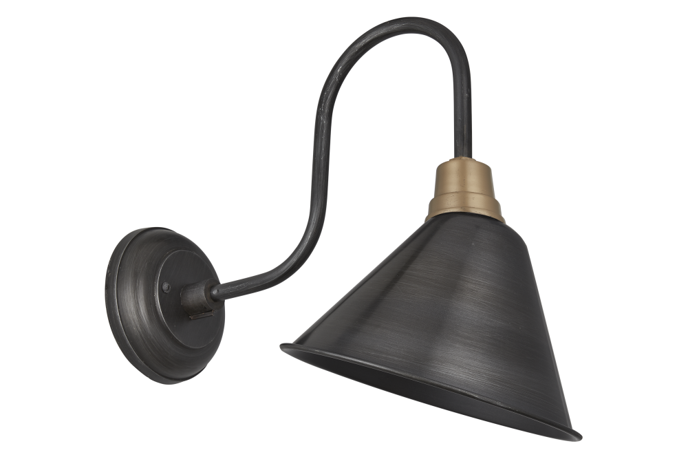 Swan Neck Cone Wall Light - 8 Inch by INDUSTVILLE