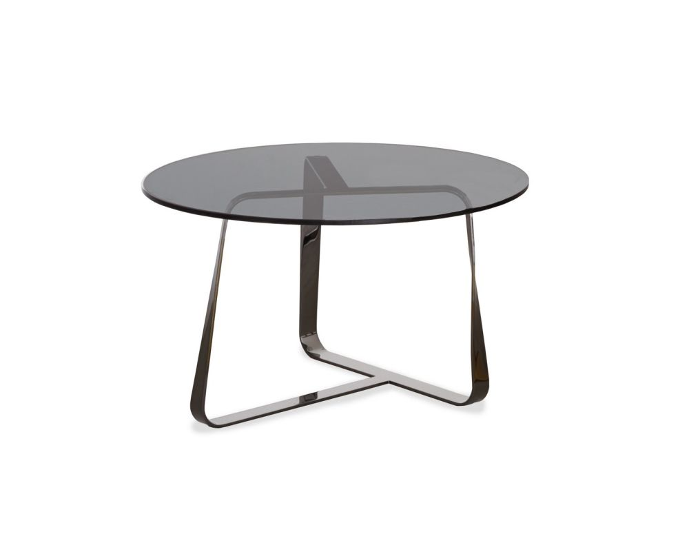 B59 Matt Black, E71 Extra Clear, 38cm,Desalto,Coffee & Side Tables,coffee table,end table,furniture,outdoor table,table