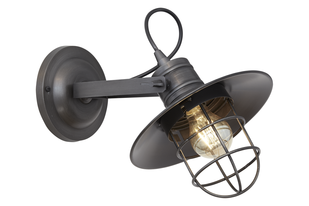 Harbour Wall Light - 6 Inch - Pewter,INDUSTVILLE,Wall Lights,ceiling,iron,lamp,light,light fixture,lighting,metal,sconce
