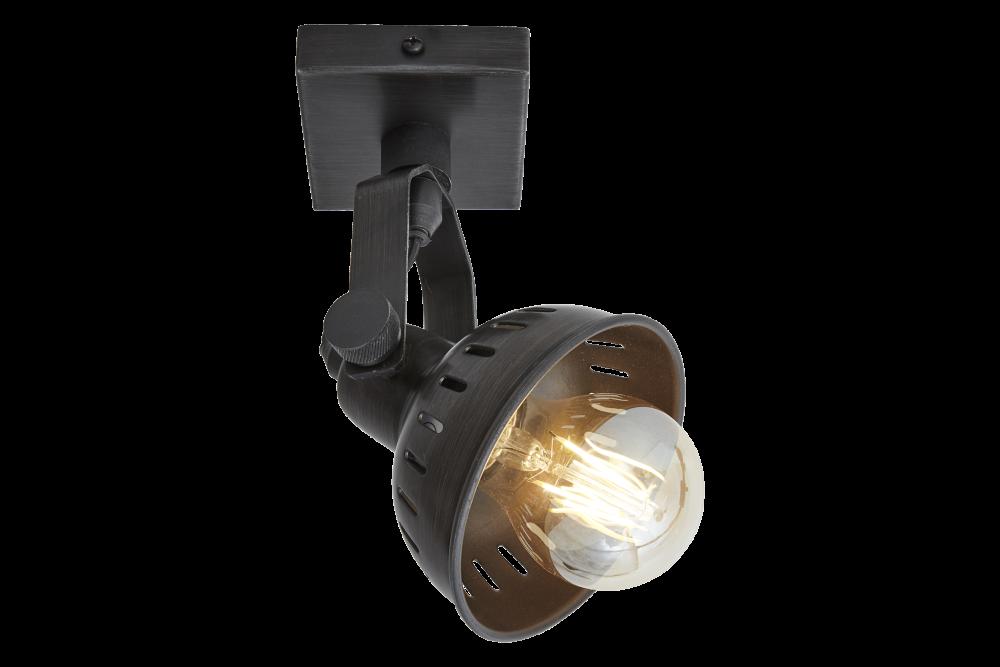 Swivel Spotlight Flush Mount - Single - Pewter by INDUSTVILLE
