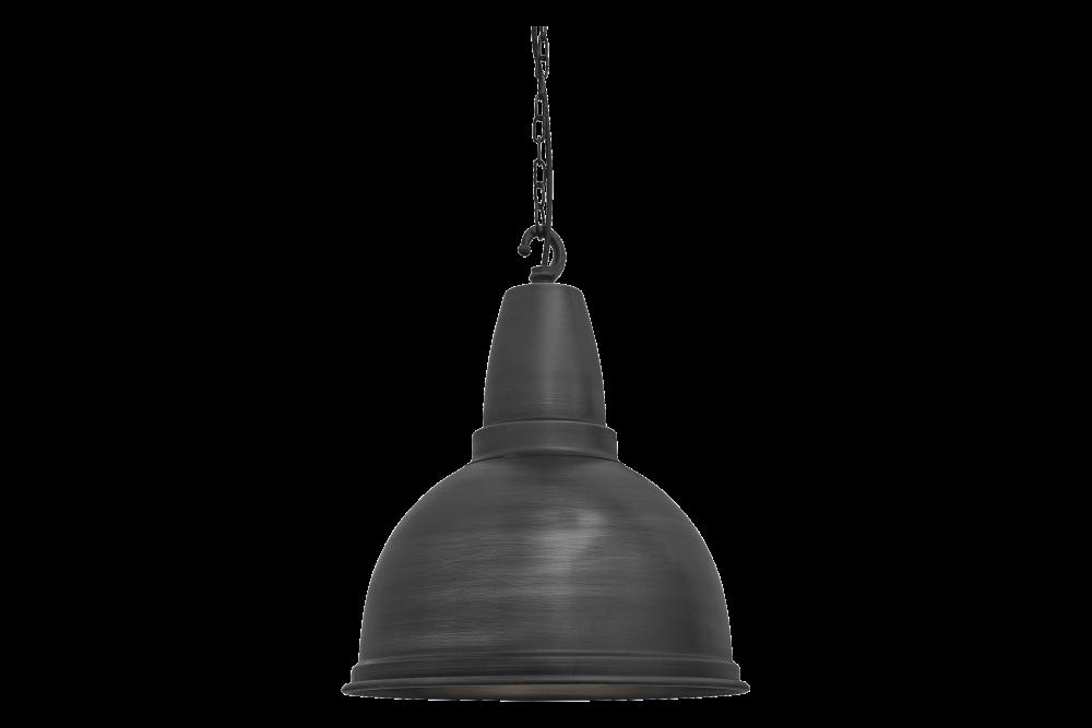 Retro Large Pendant - 13 Inch - Pewter - Pewter Hook Chain Holder,INDUSTVILLE,Pendant Lights,ceiling,ghanta,light fixture,lighting