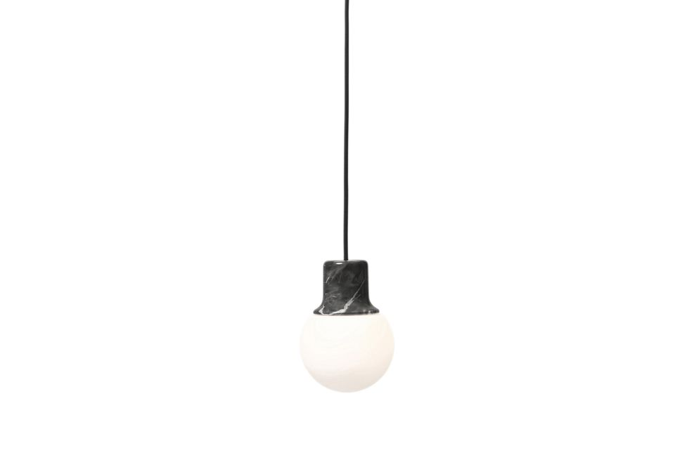 Nero Marquina Marble,&Tradition,Pendant Lights,ceiling,ceiling fixture,lamp,light,light fixture,lighting,white