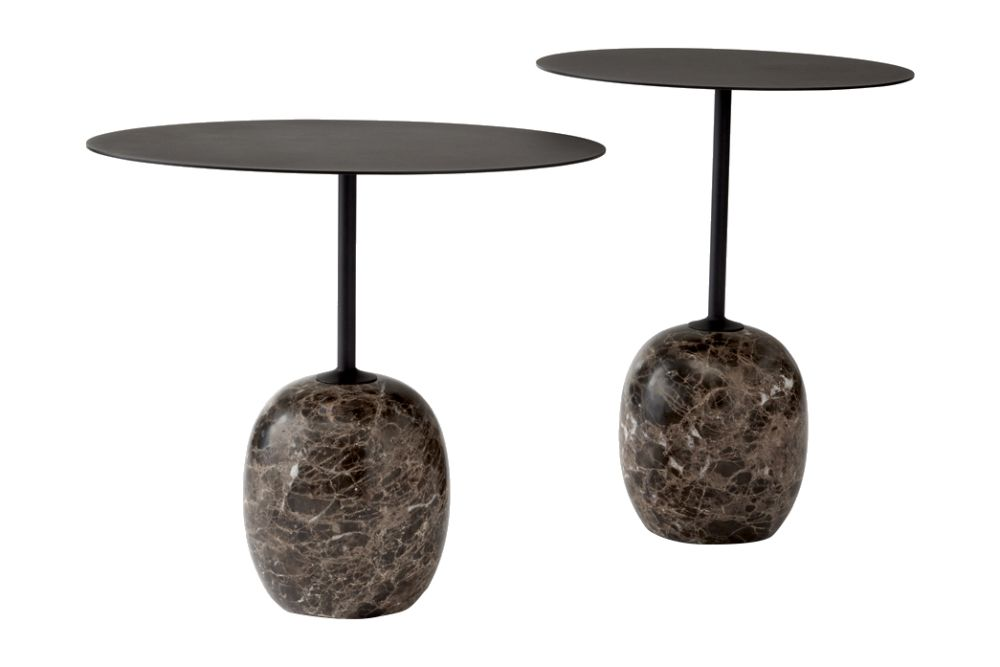 Warm black & Emparador marble,&Tradition,Coffee & Side Tables,furniture,lighting,table