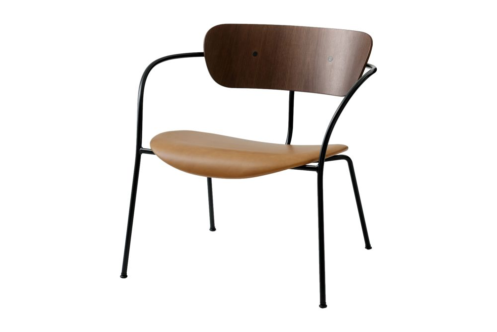 Black lacquered oak, Camo Leather Silk 0197 Cream,&Tradition,Lounge Chairs,chair,furniture,line,product