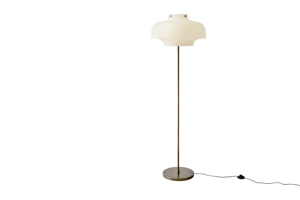 Opal glass with bronzed brass,&Tradition,Floor Lamps,ceiling,ceiling fixture,lamp,light fixture,lighting,product