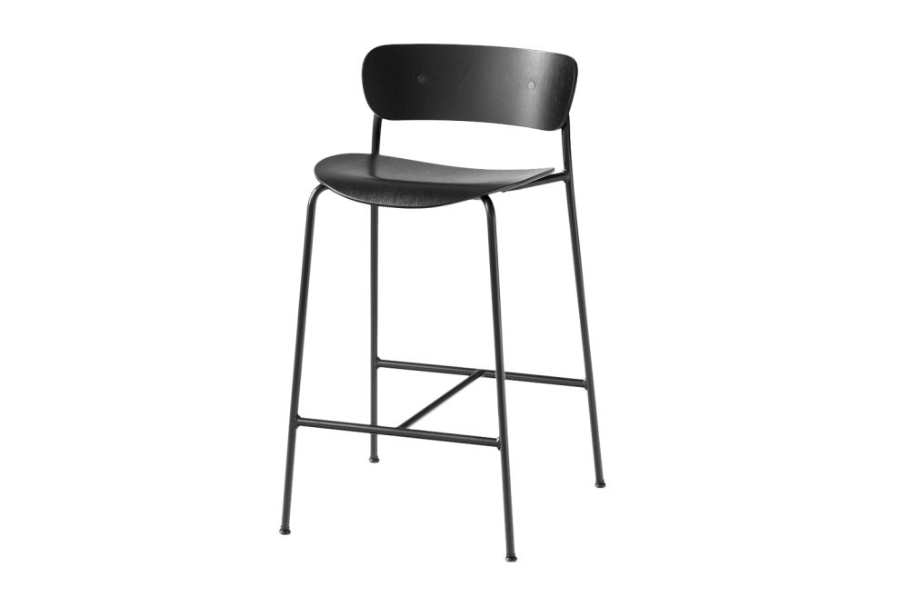 Lacquered walnut,&Tradition,Stools,bar stool,chair,furniture,stool