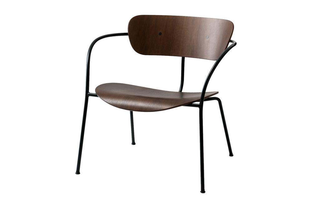 Black lacquered oak,&Tradition,Seating,chair,furniture,line