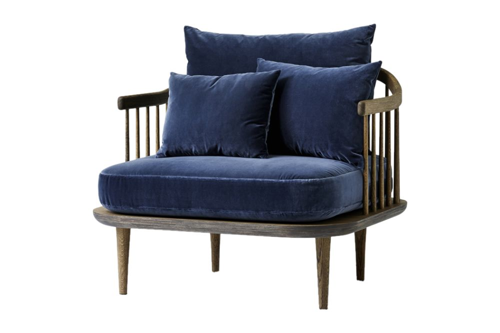 White oiled oak, Pilot 132,&Tradition,Lounge Chairs,blue,chair,furniture
