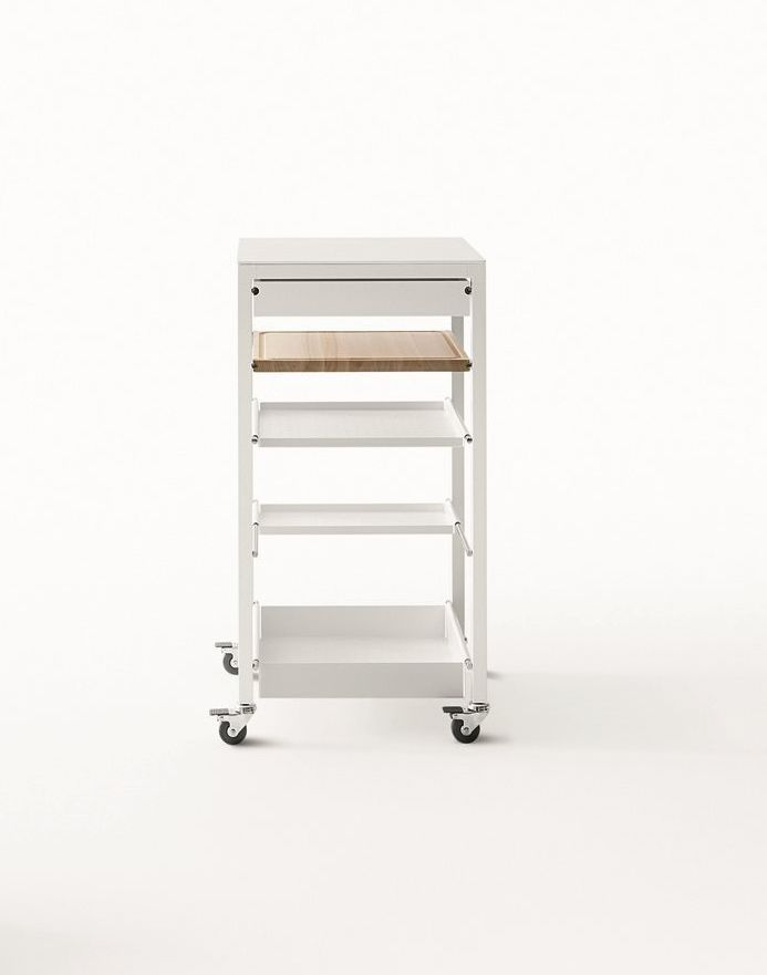 46, B62 Matt White, B62 Matt White,Desalto,Coffee & Side Tables,drawer,furniture,product,shelf,table