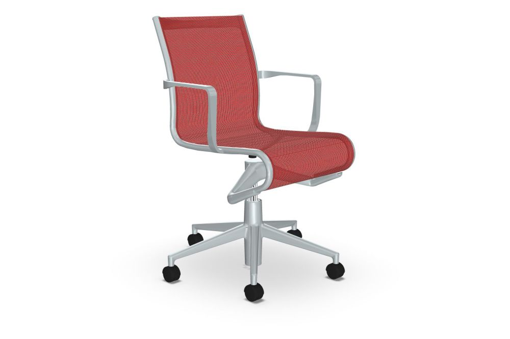 Mesh S - R028, Stove Enamelled Aluminium - A009,Alias,Task Chairs,chair,furniture,line,material property,office chair,product