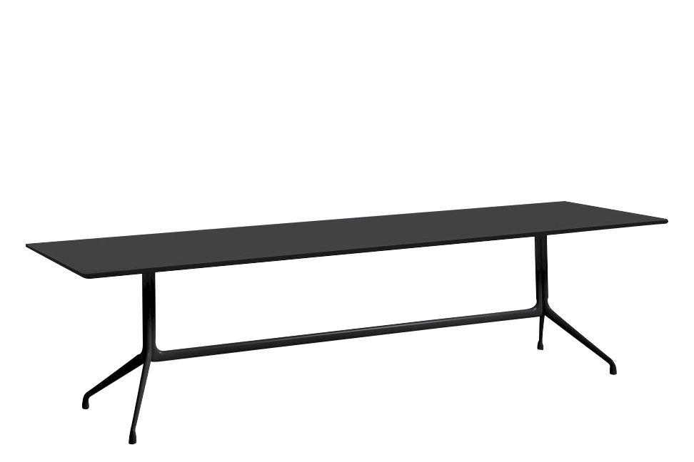 Linoleum Black / Metal Black, 180 x 90cm,Hay,Dining Tables,desk,furniture,outdoor table,rectangle,table