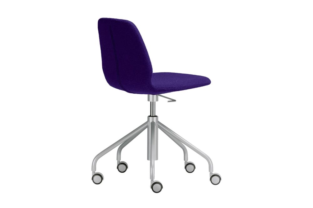 Synthetic Leather Stamskin Top - 07422, Stove Enamelled Steel - A009,Alias,Task Chairs,chair,furniture,line,material property,office chair,product,purple,violet