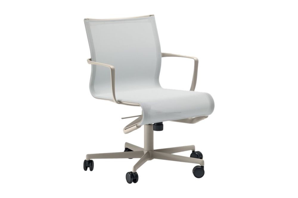 Mesh S - R028, Stove Enamelled Aluminium - A009,Alias,Task Chairs,chair,furniture,line,material property,office chair,product,white
