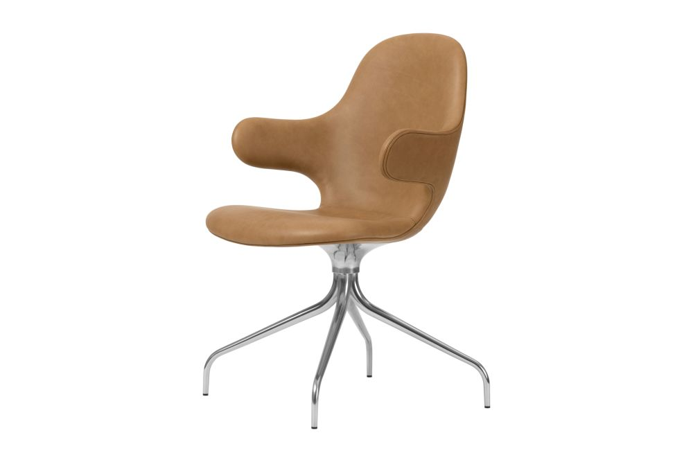 Powder coated black, Camo Leather Silk 0197 Cream,&Tradition,Office Chairs,beige,chair,furniture,line,plastic