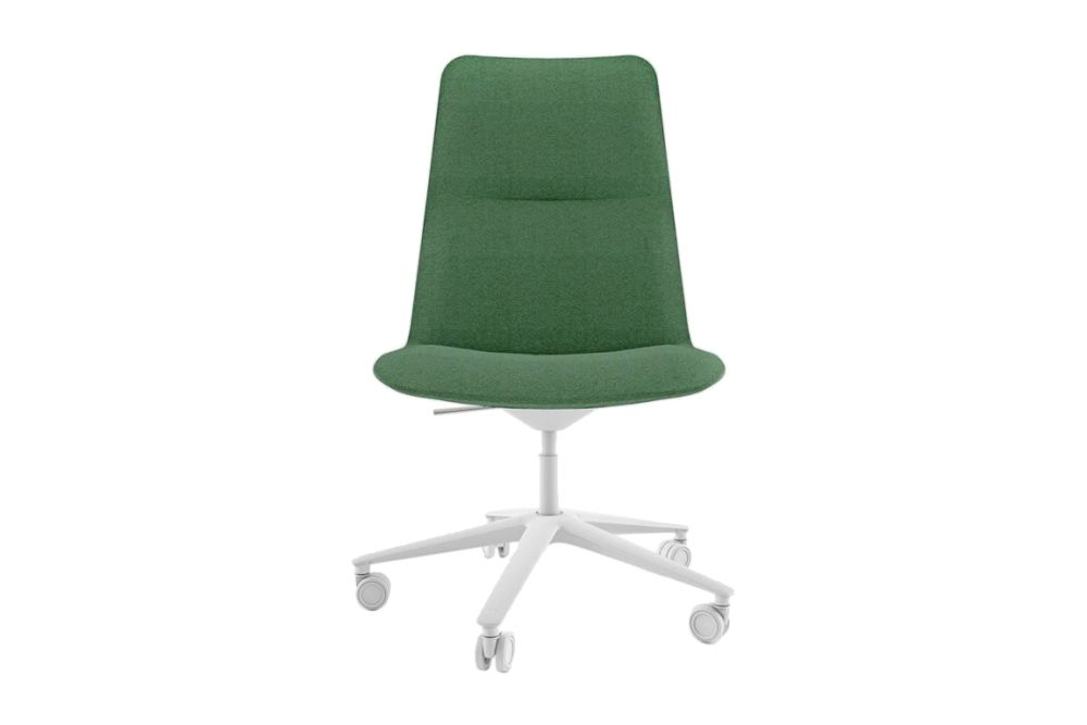 Stove Enamelled Aluminium - A019, Camira Urban - YN094, Soft, Tilt,Alias,Conference Chairs,chair,furniture,green,office chair,plastic