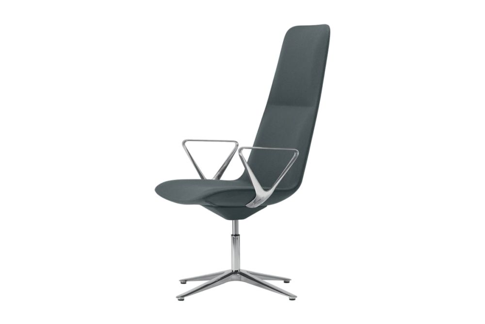 Slim Conference High 4 813 Armchair, Y Armrests by Alias