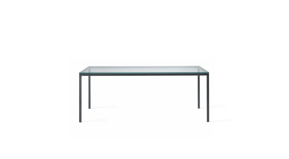 B62 Matt White, Desalto Glass E02 Transparent, 90 x 90,Desalto,Dining Tables,coffee table,desk,end table,furniture,outdoor table,rectangle,sofa tables,table