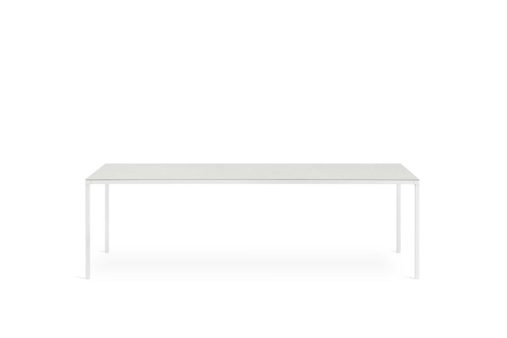 B62 Matt White, D84 White Calce, 118 x 118,Desalto,Dining Tables,coffee table,desk,furniture,outdoor table,rectangle,sofa tables,table,white