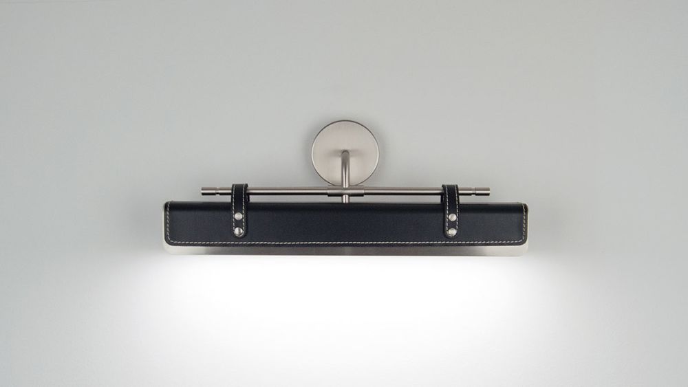 Satin Brass, Natural Leather,Lumen Center Italia,Wall Lights,product,wall