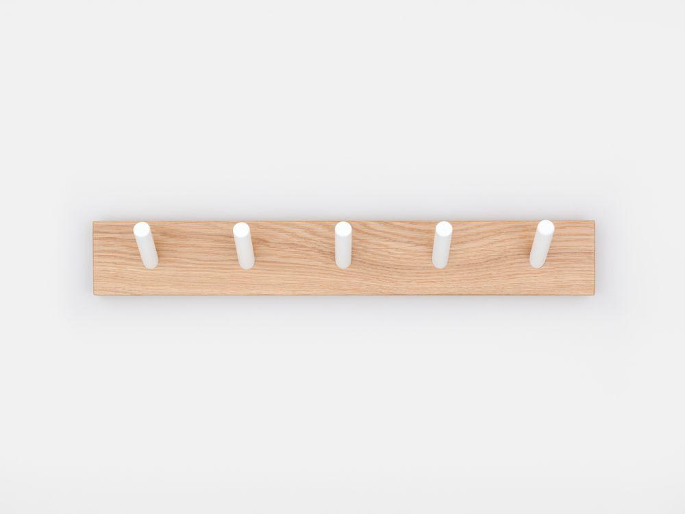 Peg Coat Rack,John Green,Hooks & Hangers,rectangle,shelf,wood
