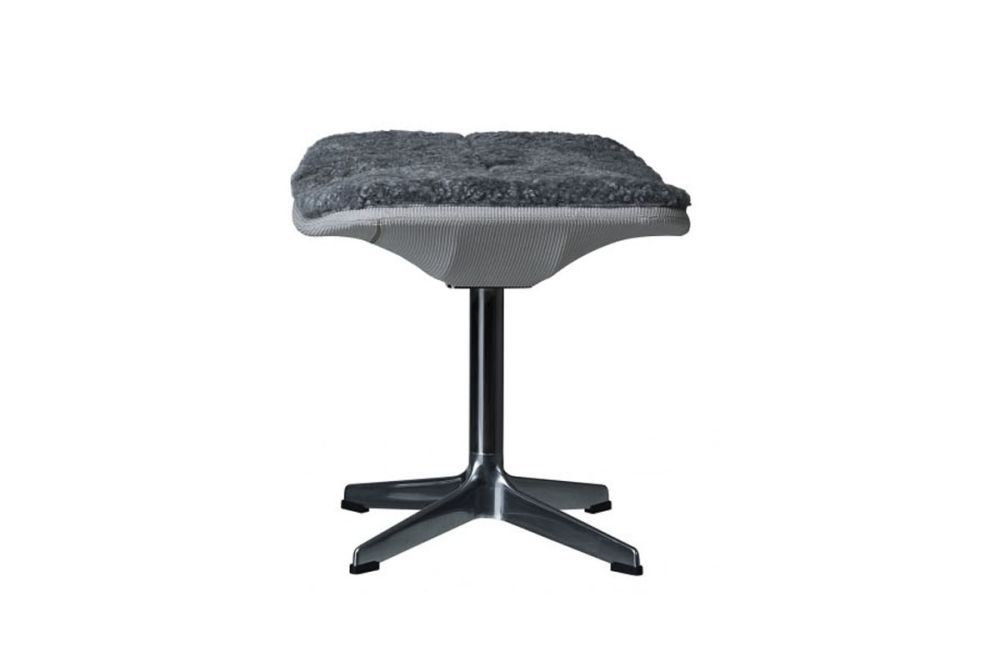 Light Grey Net, White Lacquered, Elmo Soft 01003,Swedese,Footstools,bar stool,furniture,product,stool,table