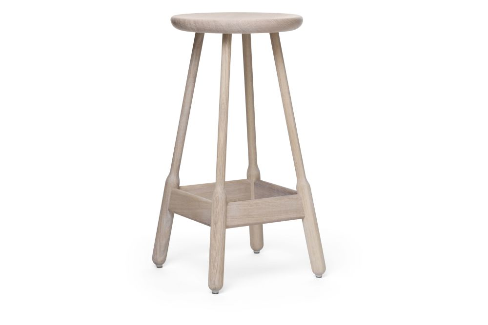 White Oiled Oak, 74cm,Massproductions,Stools,bar stool,furniture,stool,table