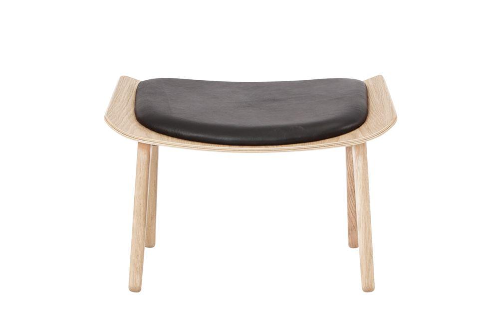 Dunes 21000 Cognac, Oak Black,NORR11,Footstools,chair,furniture,stool,table