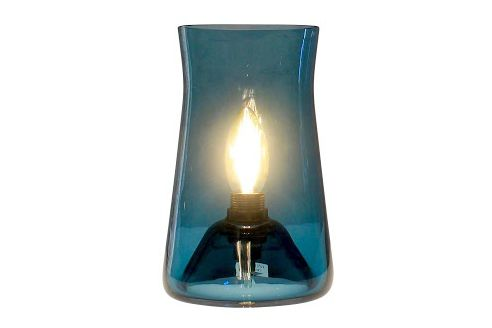 White,One Foot Taller,Table Lamps,blue,candle holder,lighting,turquoise