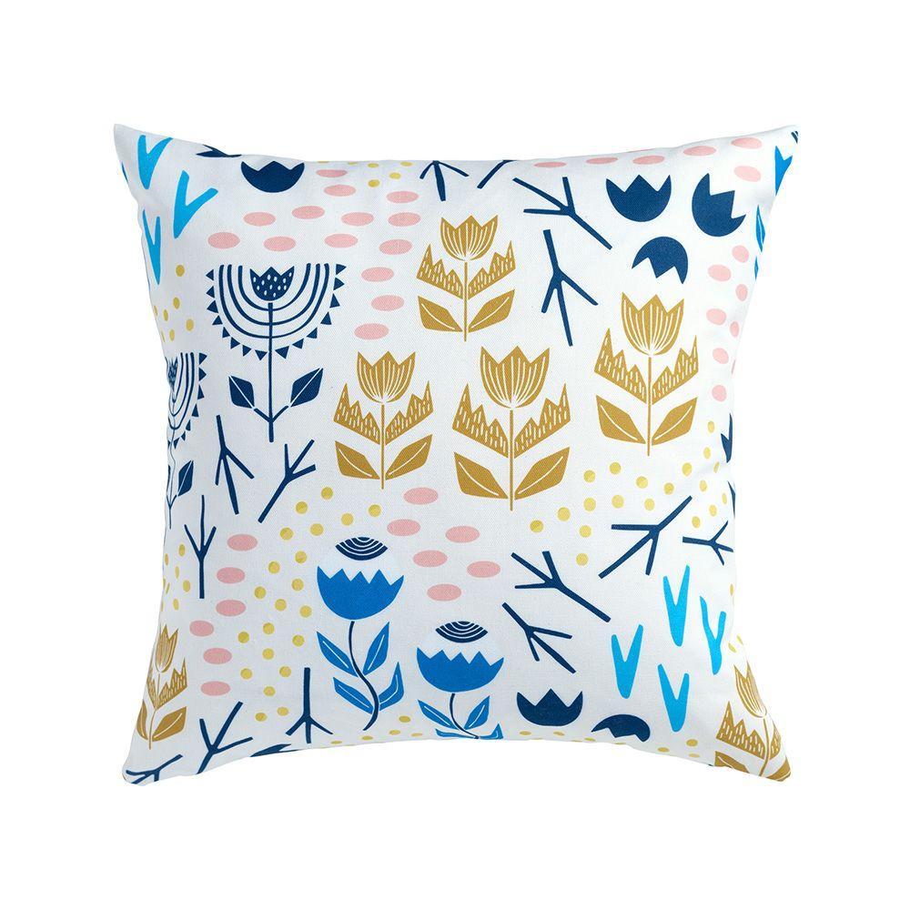 Cushion + Pad,Sian Elin ,Cushions,aqua,cushion,furniture,linens,pillow,porcelain,textile,throw pillow,yellow