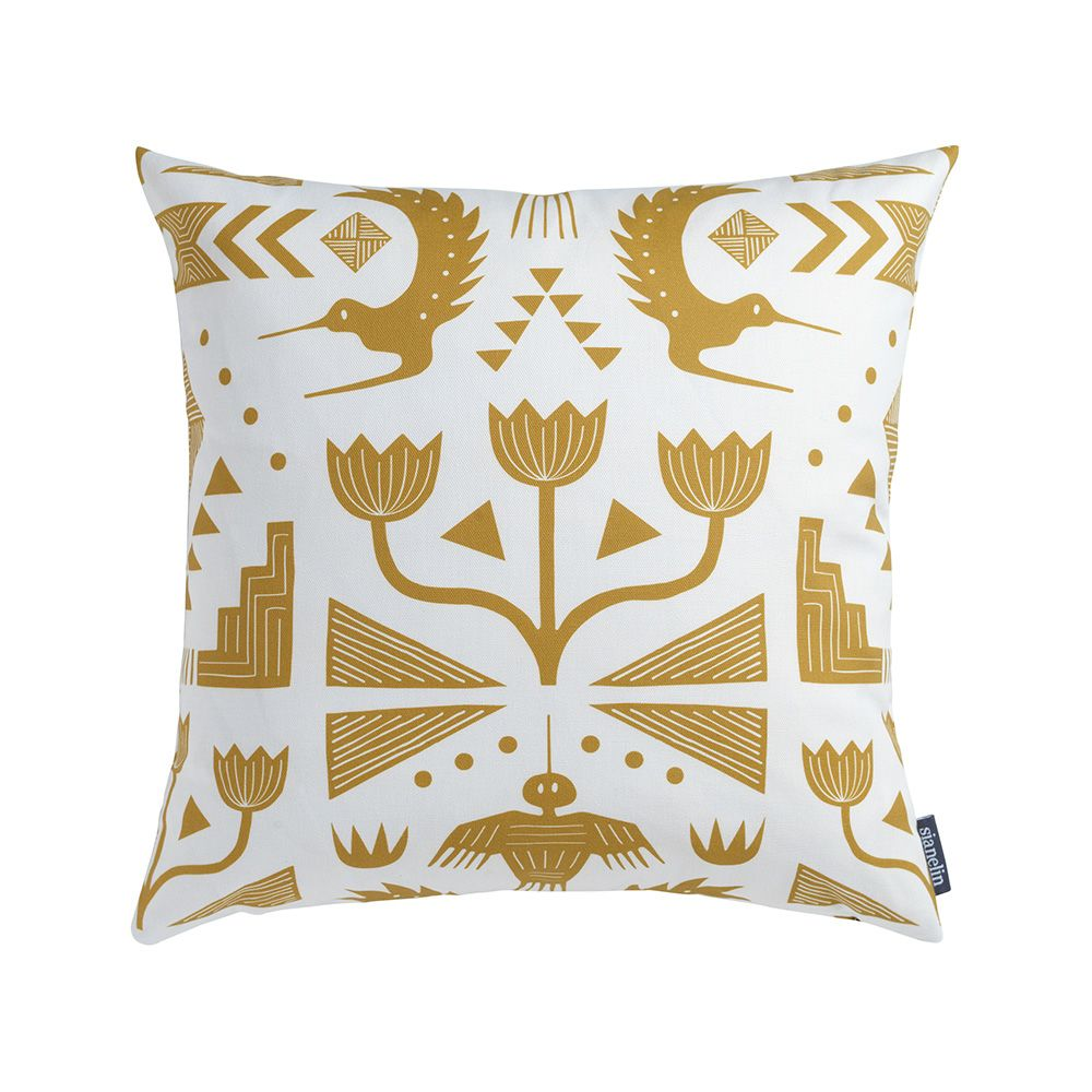 Cushion + Pad,Sian Elin ,Cushions,beige,cushion,design,furniture,home accessories,linens,pattern,pillow,rectangle,textile,throw pillow,yellow