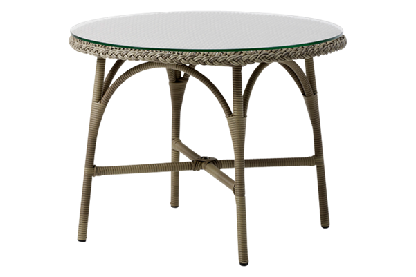 Victoria Round Coffee Table with Glass Top by Sika Design