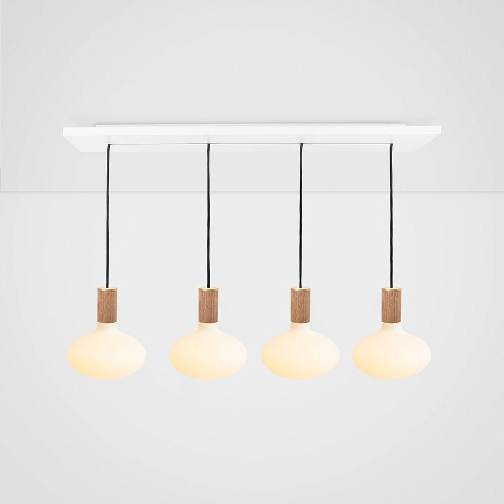 Oval Oak Ceiling Light  by Tala