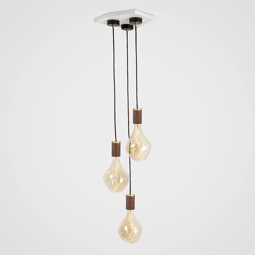 Voronoi II Walnut Ceiling Light  by Tala