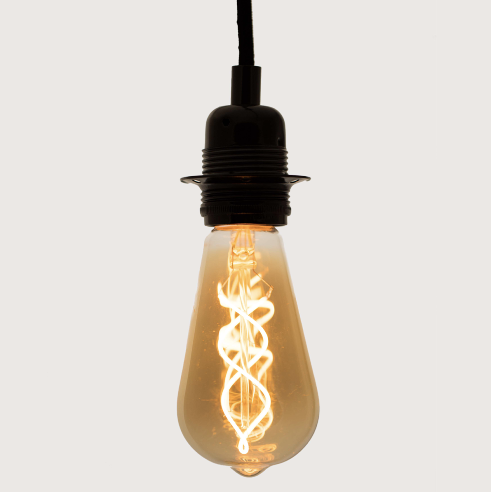 Large Teardrop Spiral LED Light Bulb by William and Watson