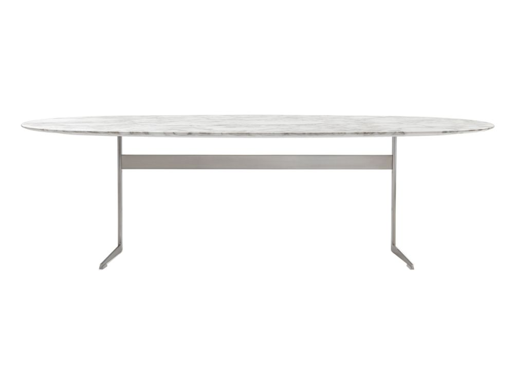 Black Chrome, Marble Carrara, 200,Flexform,Dining Tables,coffee table,furniture,line,outdoor table,oval,rectangle,sofa tables,table