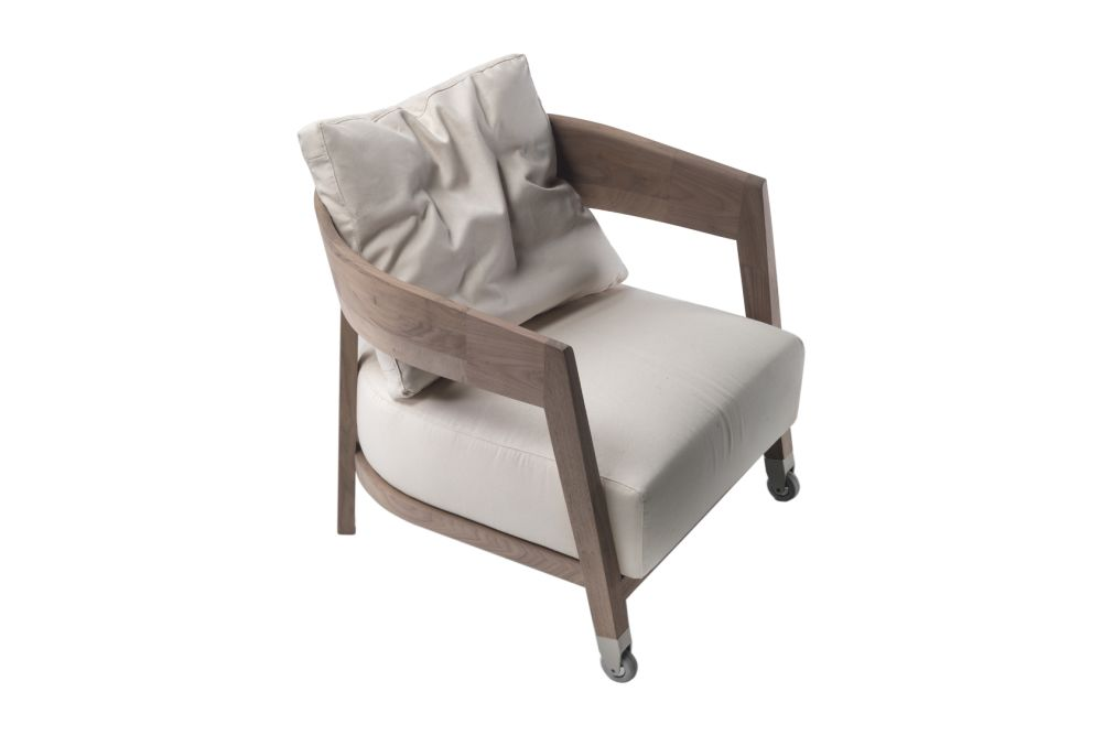 Sable 1640, Wood Finishes Noce Canaletto,Flexform,Armchairs,beige,chair,club chair,furniture,product