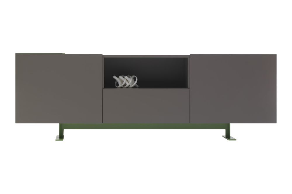 with 2 doors, Op 1059, Lx 76 Verde Inglese,Cappellini,Cabinets & Sideboards,furniture,sideboard,table