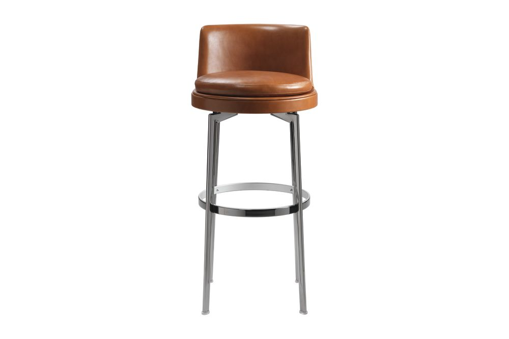 Sable 1640, Black Chrome, 88cm,Flexform,Stools,bar stool,brown,chair,furniture,stool