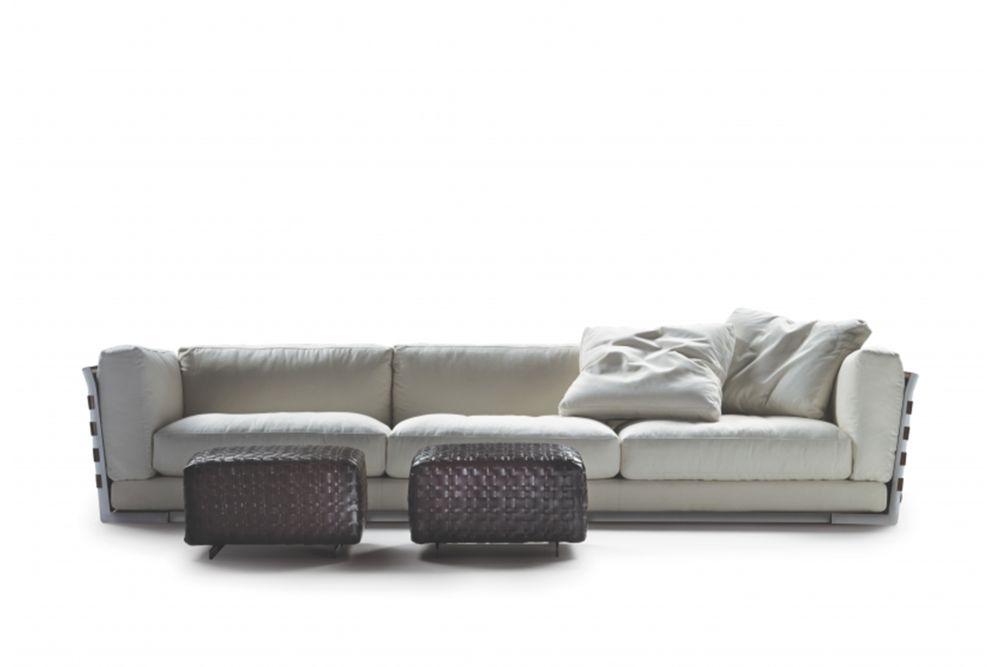 Cestone 3 Seater Sofa Back/Armrest Leather by Flexform