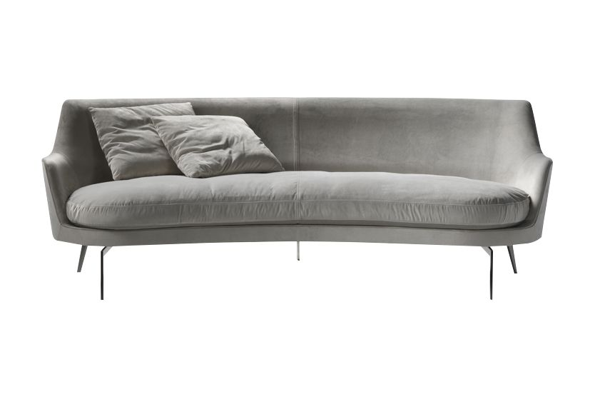 Sable 1640, Black Chrome,Flexform,Sofas,armrest,beige,comfort,couch,furniture,leather,sofa bed,studio couch