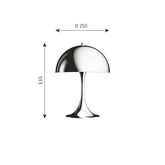 High Lustre Chrome Plated,Louis Poulsen,Table Lamps,lamp,table