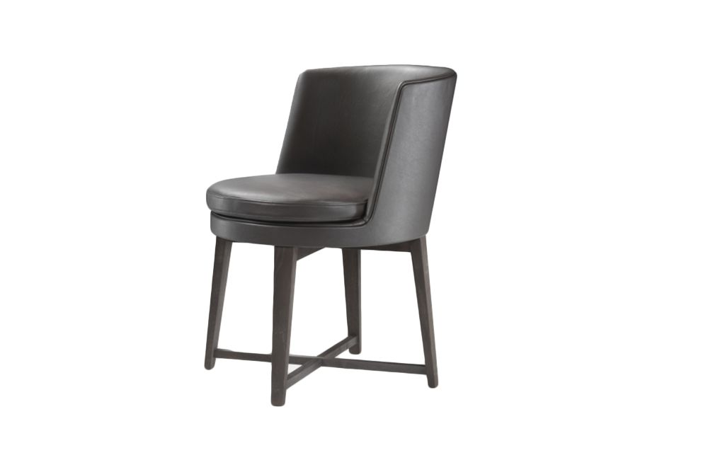 Sable 1640, Wood Finishes Ashwood Stained Brown,Flexform,Dining Chairs,black,chair,furniture