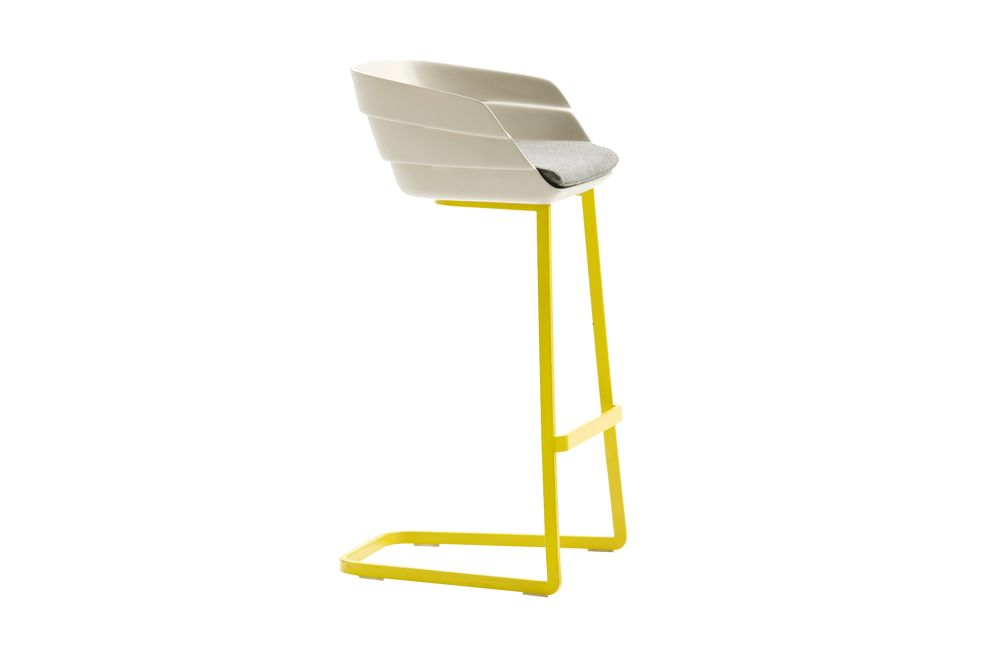 Rift Bar Stool with Cushion by Moroso