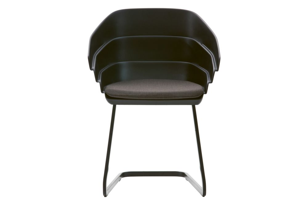 Rift Cantilever Dining Chair with Cushion by Moroso