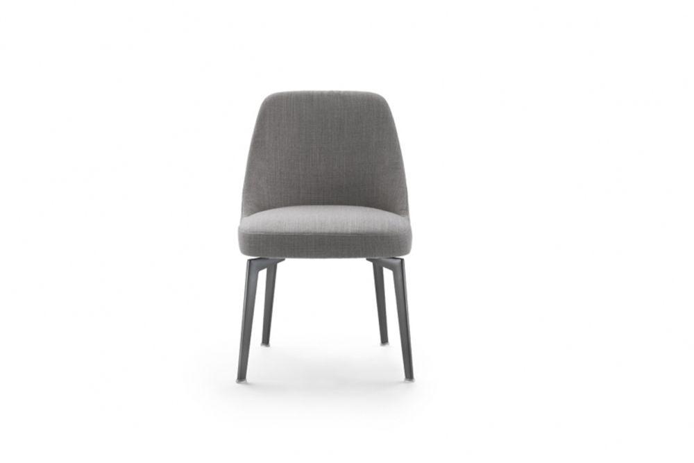 Leda Dining Chair Metal Base by Flexform