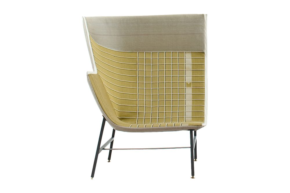 Lowback, Left, Cacao, A4617 - Planes GREIGE lest version, B0221 - Leather Cervo Zingo - Z,Moroso,Armchairs,chair,furniture,product,table,wicker