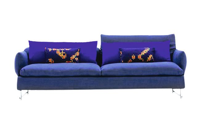 214, A7327 - Units 1 Naviglio yellow, Steel Chrome,Moroso,Sofas,blue,cobalt blue,couch,furniture,purple,sofa bed,studio couch,violet
